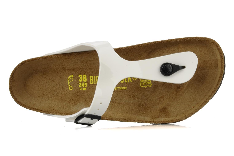 Sandales et nu-pieds Birkenstock Gizeh Flor W Blanc vue gauche