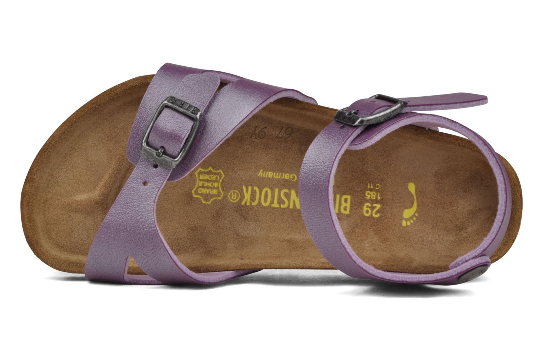 Sandales et nu-pieds Birkenstock Rio Flor E Violet vue gauche