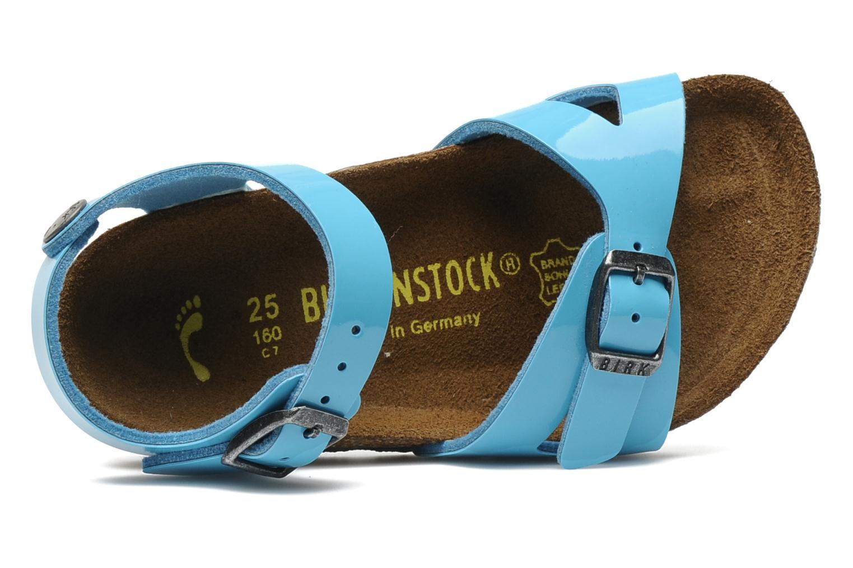 Sandalen Birkenstock Rio Flor E blau ansicht von links