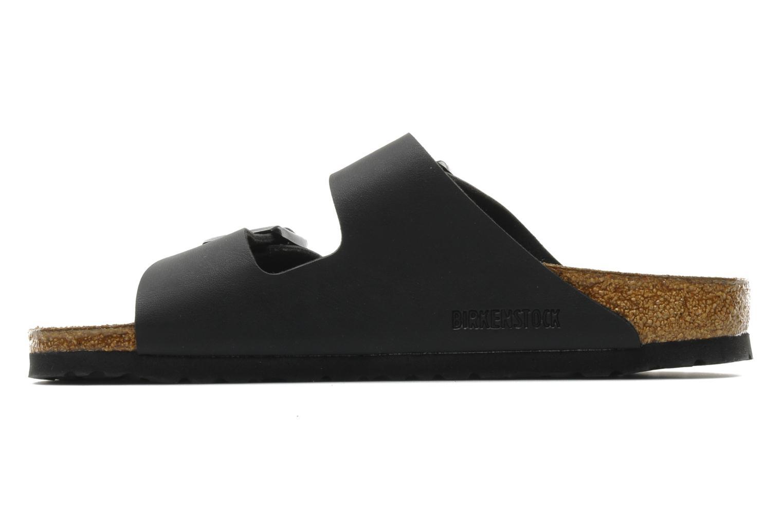 Sandales et nu-pieds Birkenstock Arizona Flor M Noir vue face