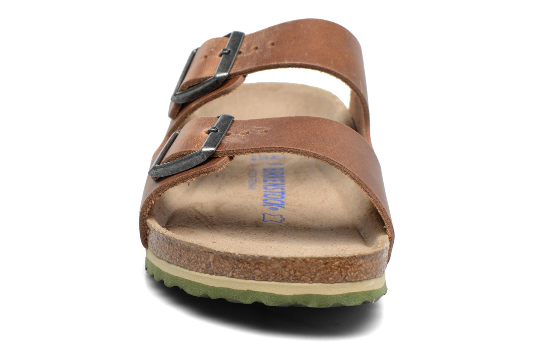 Sandalen Birkenstock Arizona Cuir M braun schuhe getragen