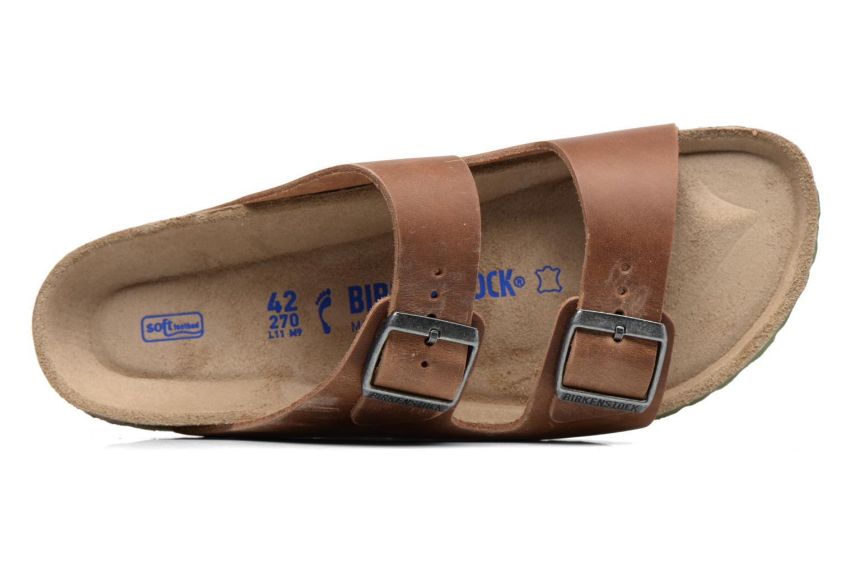 Sandalen Birkenstock Arizona Cuir M braun ansicht von links