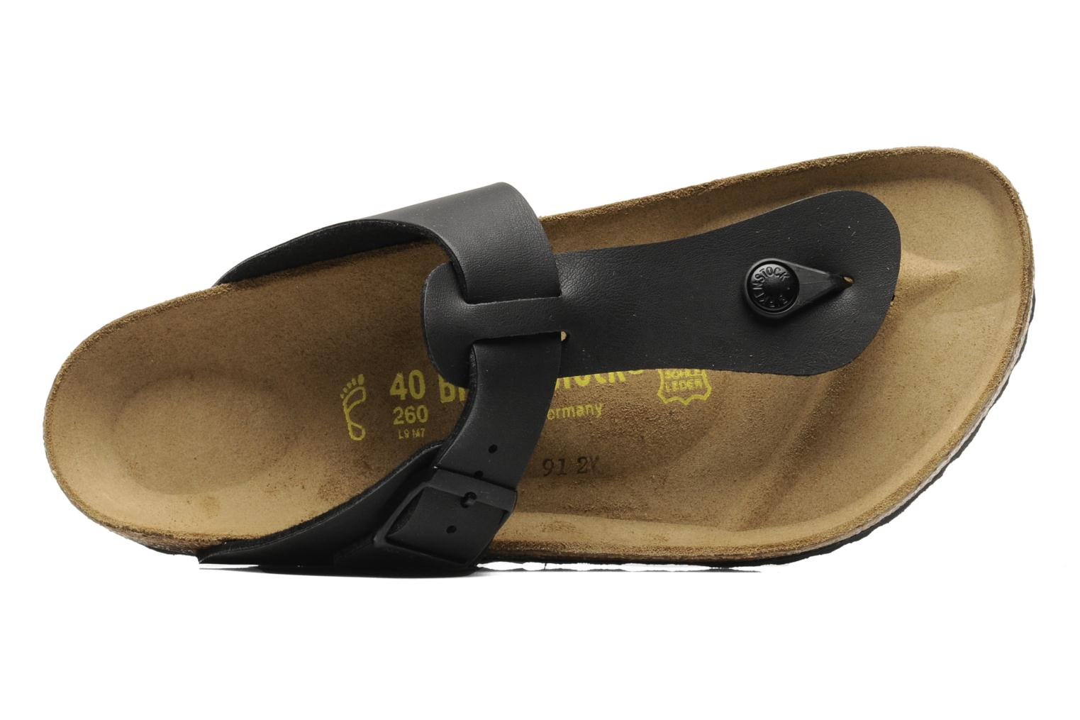 Flip flops Birkenstock Medina Flor M Black view from the left