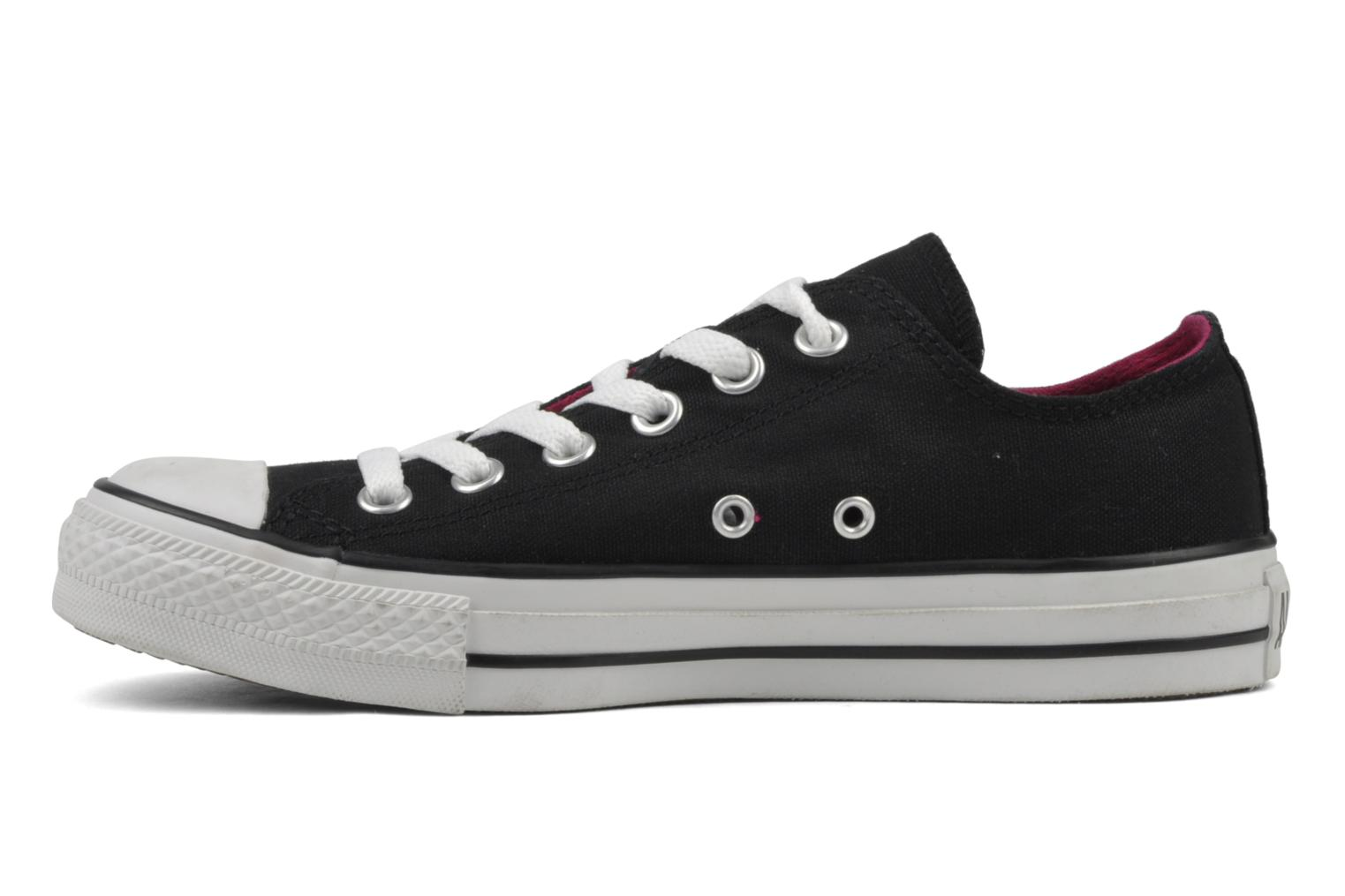 Sneakers Converse Chuck Taylor All Star Double Tongue Ox Zwart voorkant