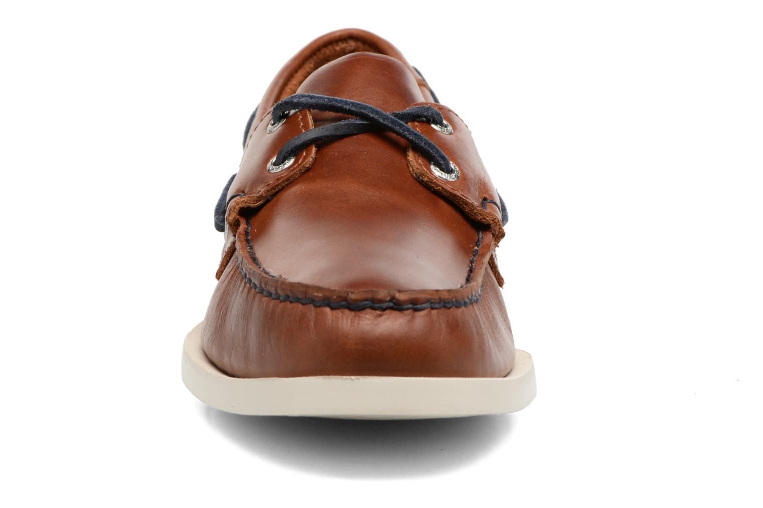 Spinnaker Cognac Leather/Navy Nubuck