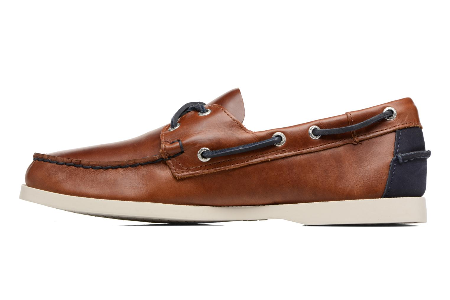 Lace-up shoes Sebago Spinnaker Brown front view