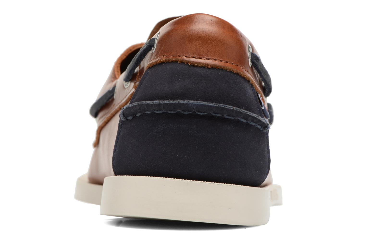 Lace-up shoes Sebago Spinnaker Brown view from the right
