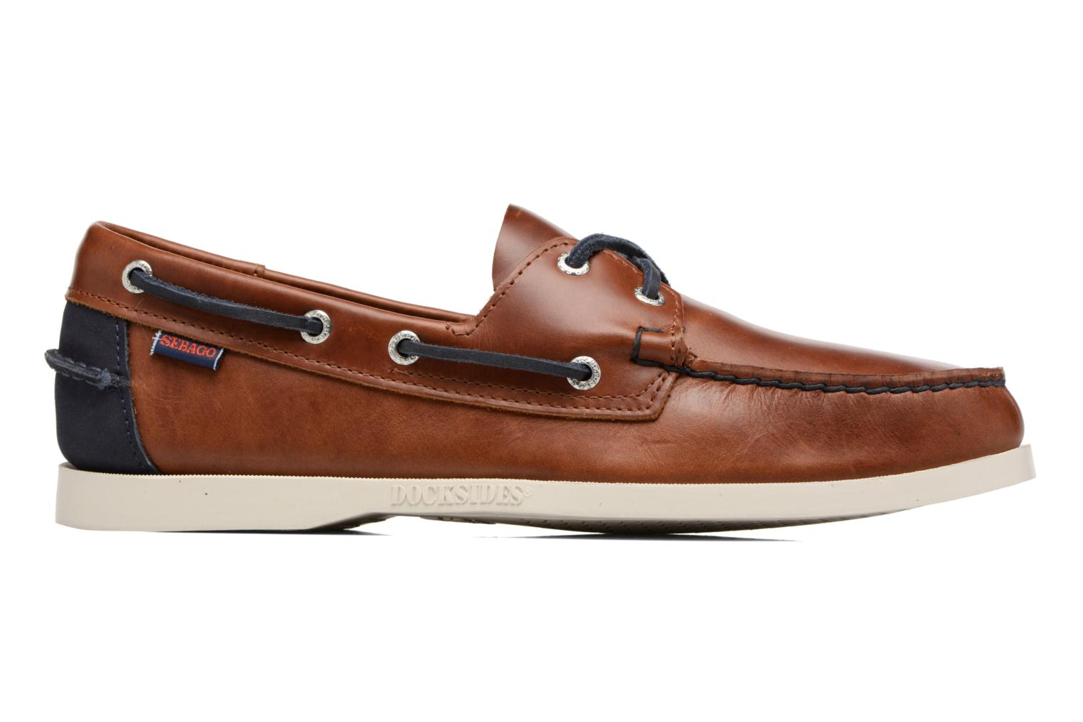 Lace-up shoes Sebago Spinnaker Brown back view
