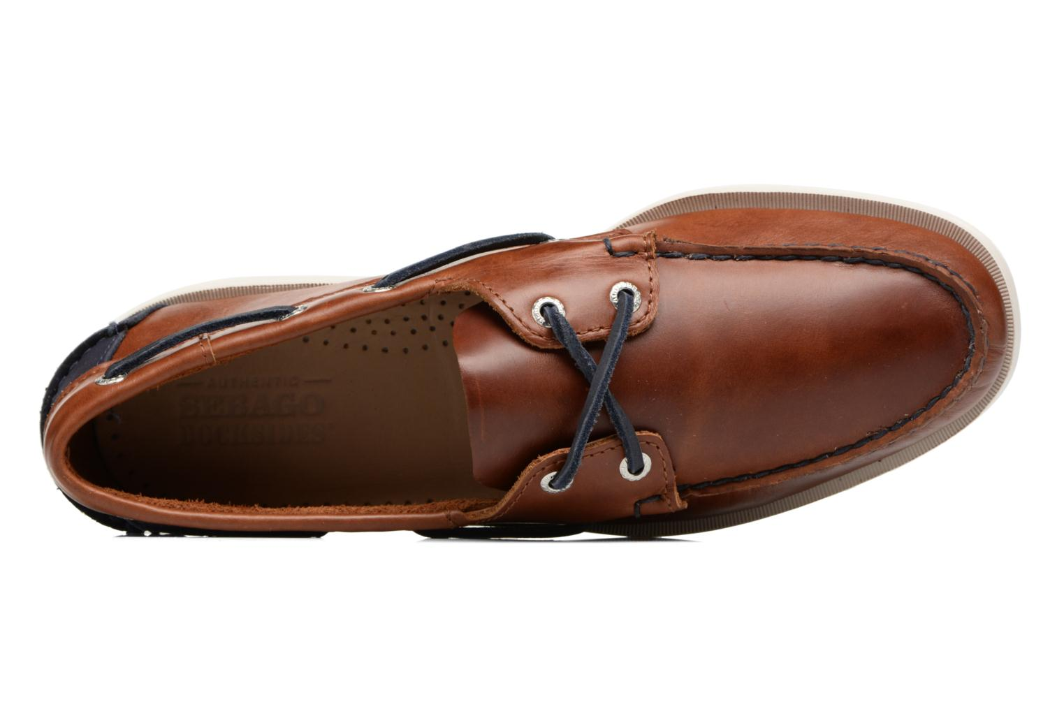 Veterschoenen Sebago Spinnaker Bruin links