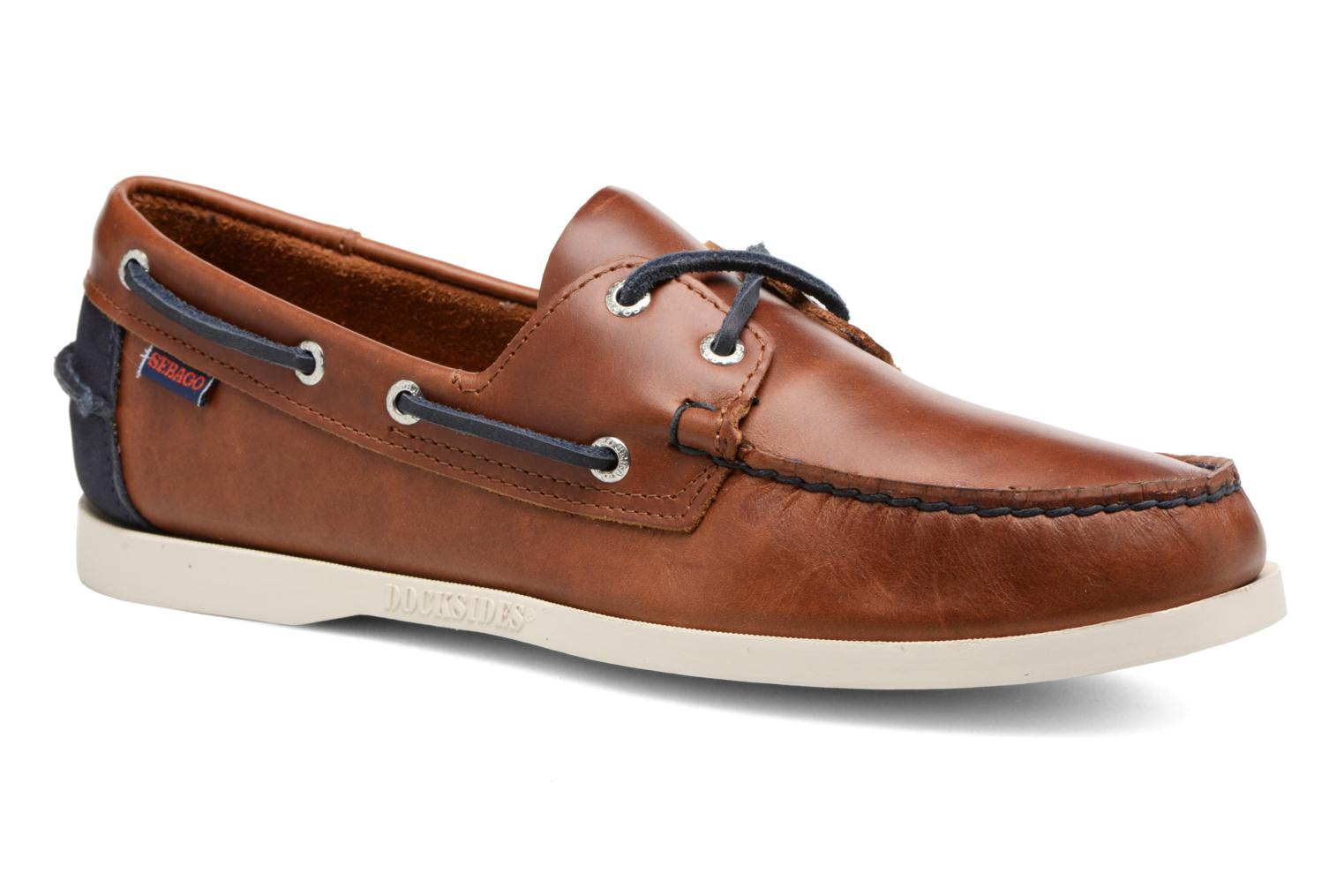 Lace-up shoes Sebago Spinnaker Brown detailed view/ Pair view