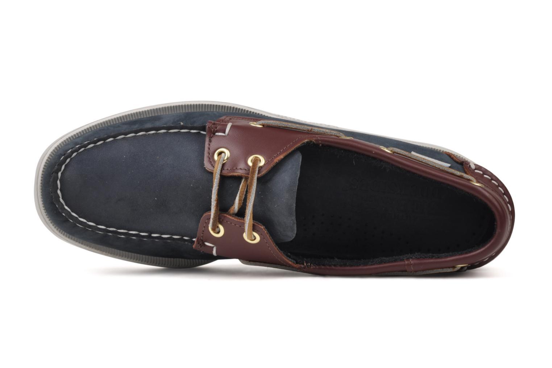 Spinnaker Navy Nubuck Brown Leather