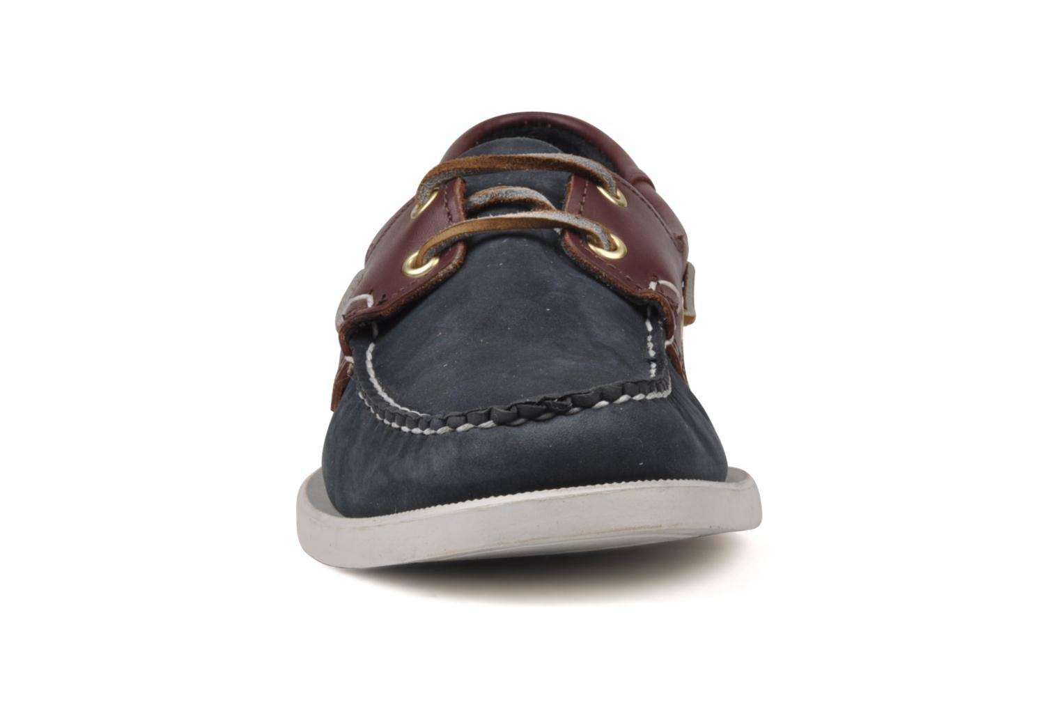Spinnaker Navy Nubuck Brown Leather
