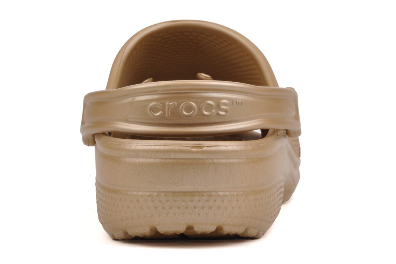 Clogs og træsko Crocs Classic F Guld og bronze Se fra højre