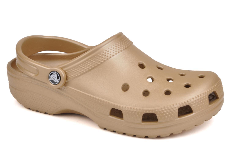 Clogs og træsko Crocs Classic F Guld og bronze detaljeret billede af skoene