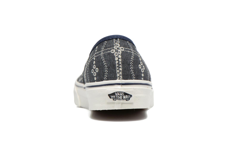 Sneaker Vans Authentic blau ansicht von rechts