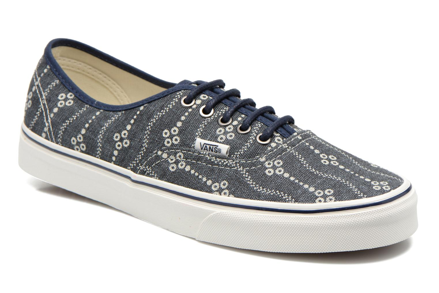 Baskets Vans Authentic Bleu vue détail/paire