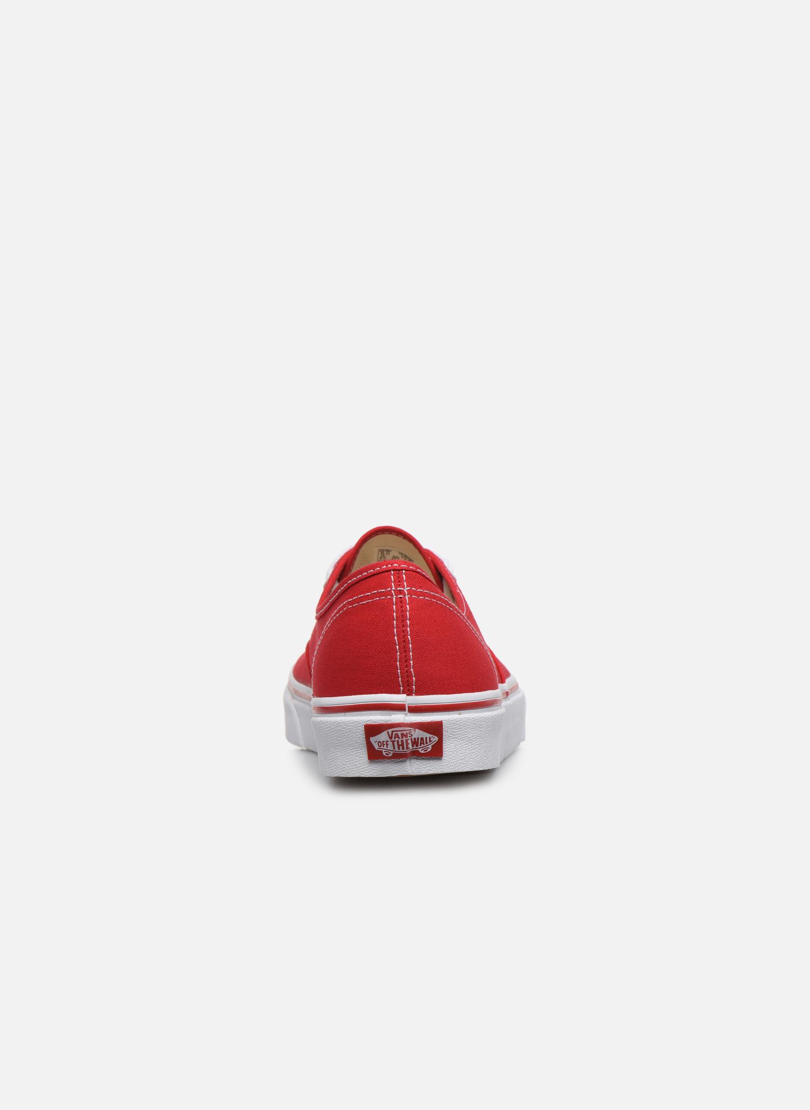 Sneakers Vans Authentic Röd Bild från höger sidan