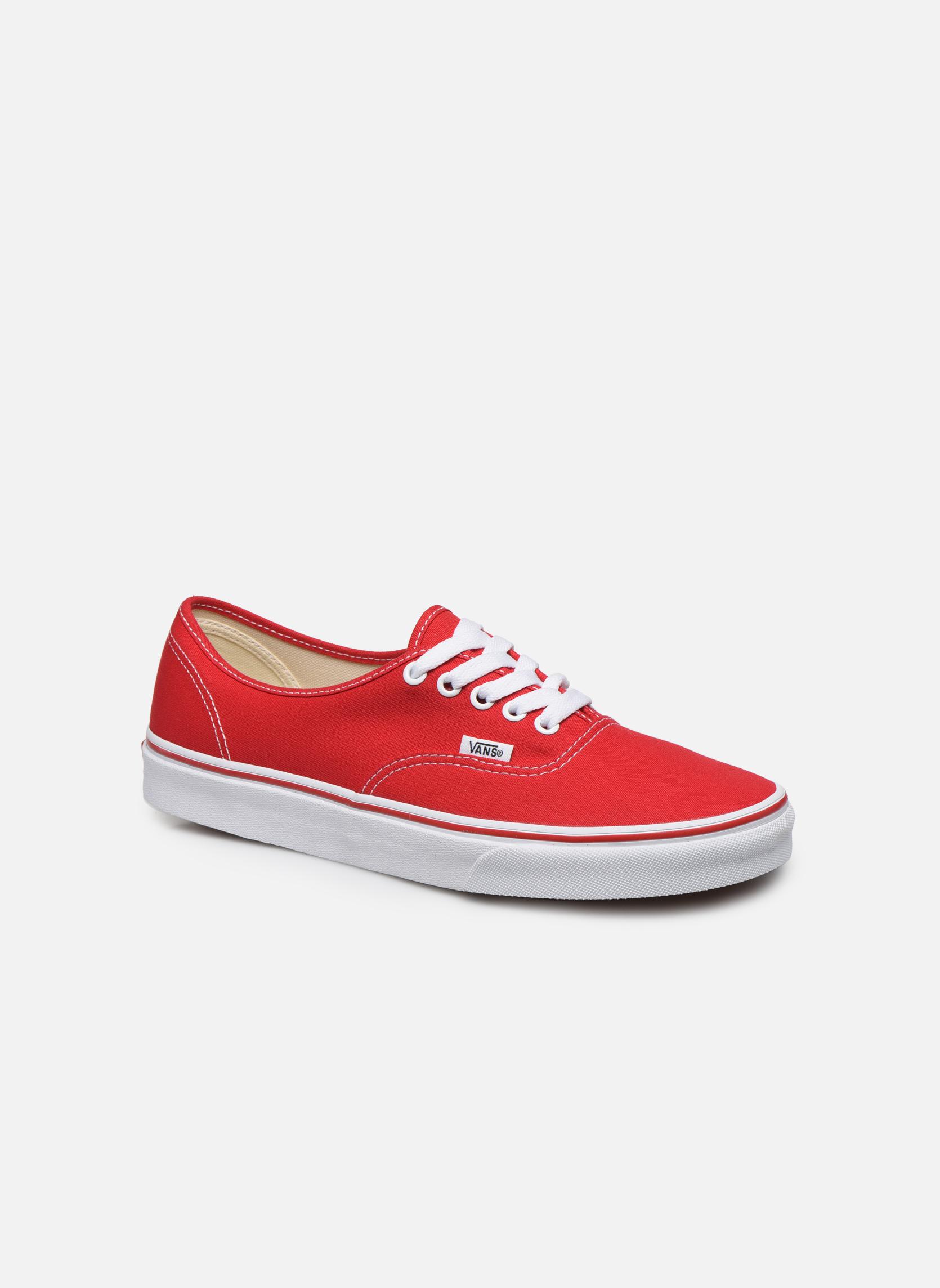 Sneakers Vans Authentic Röd detaljerad bild på paret