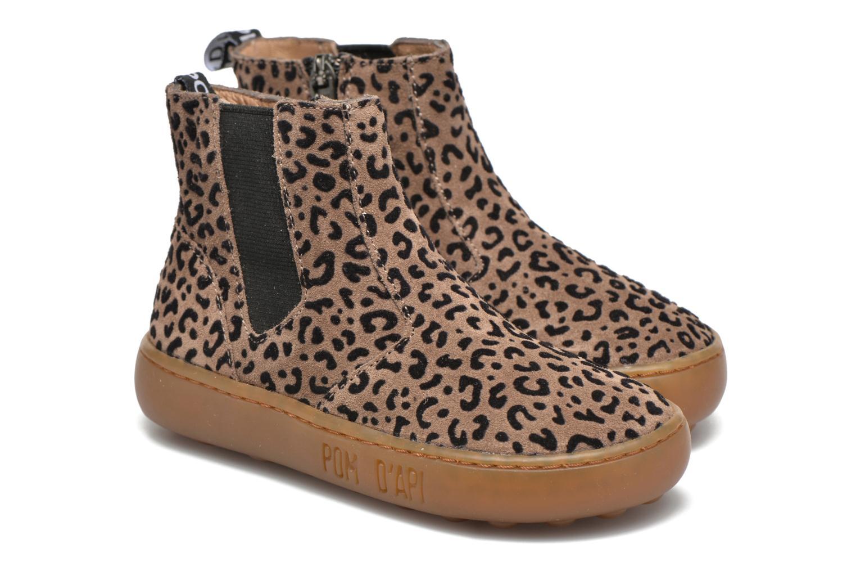 Bottines et boots Pom d Api Walk Jodpur Basic Marron vue 3/4