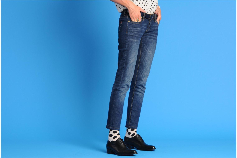 Chaussures à lacets Free Lance Queenie 4 Derby Noir vue bas / vue portée sac
