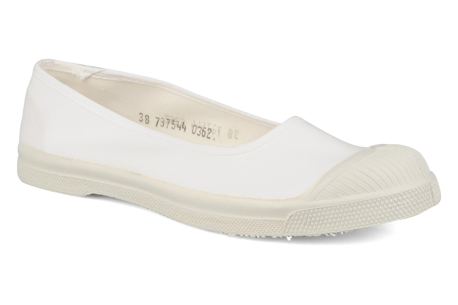 Ballet pumps Bensimon Ballerine White detailed view/ Pair view