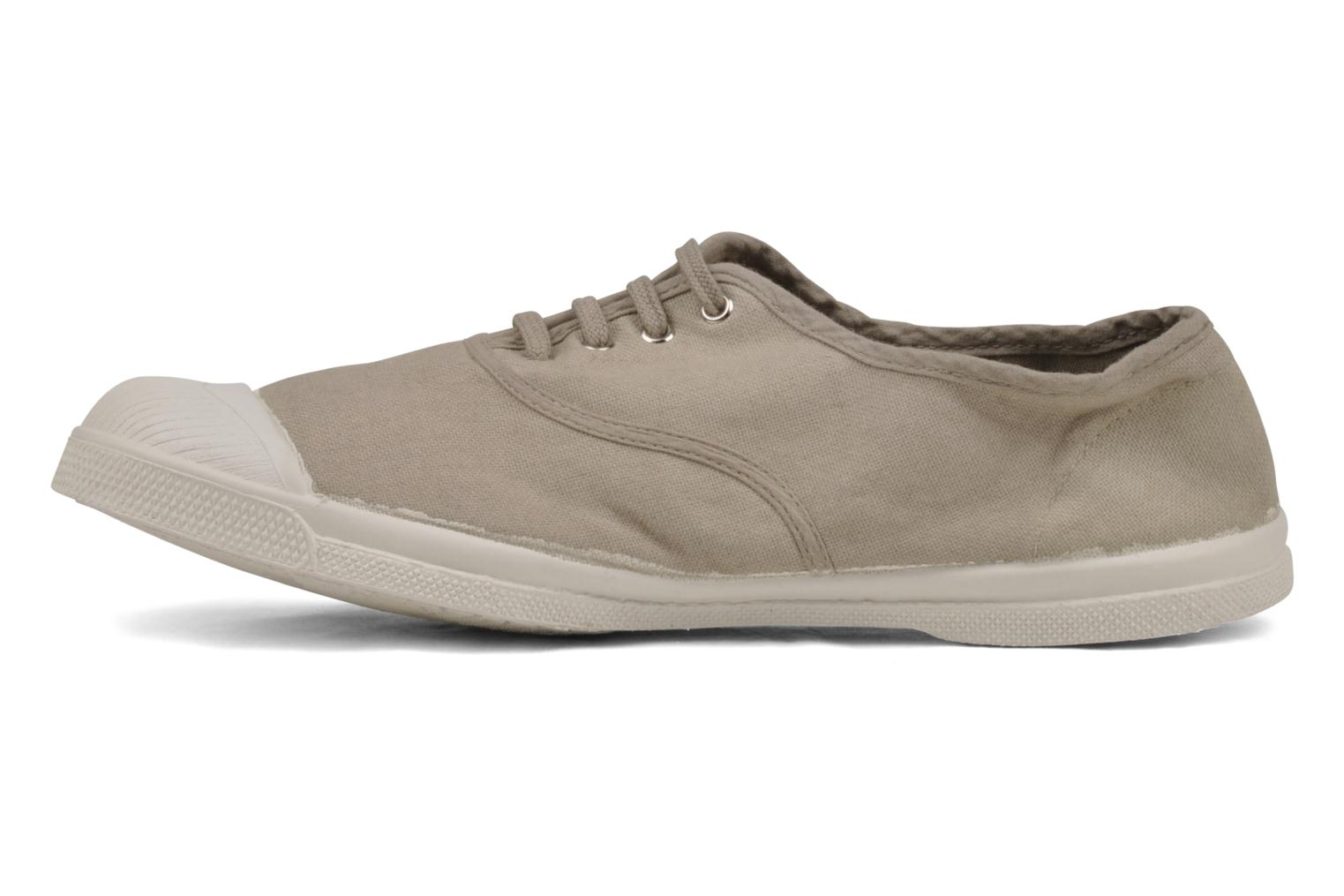 Baskets Bensimon Tennis Lacets H Beige vue face