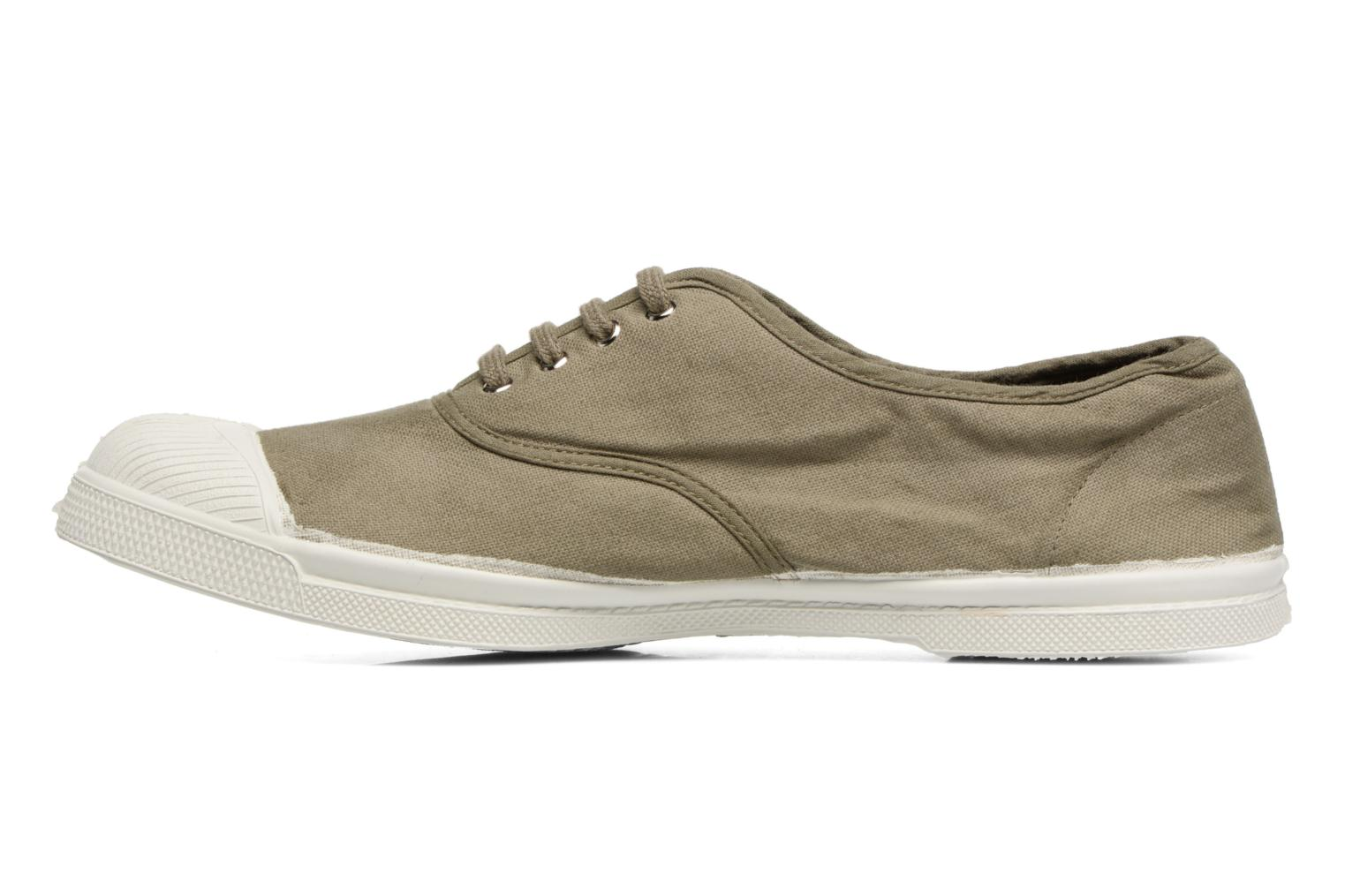 Baskets Bensimon Tennis Lacets H Vert vue face