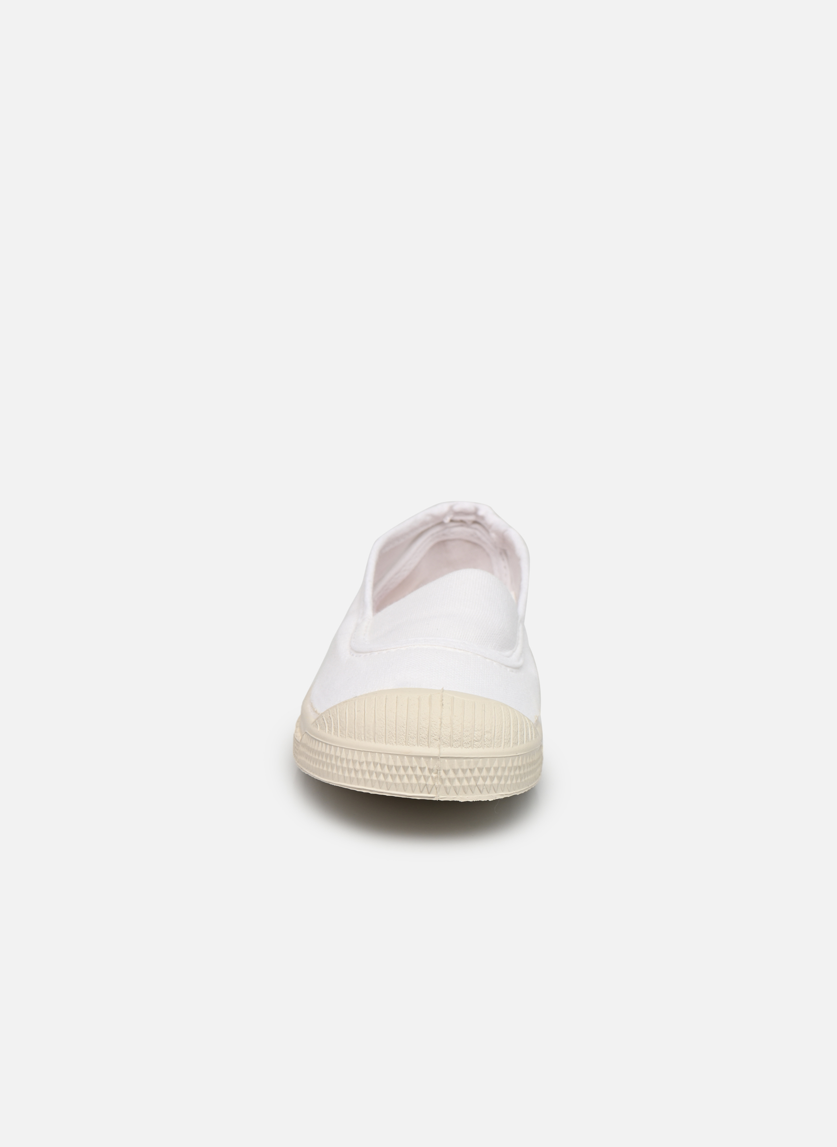 Sneaker Bensimon Tennis Elastique E weiß schuhe getragen