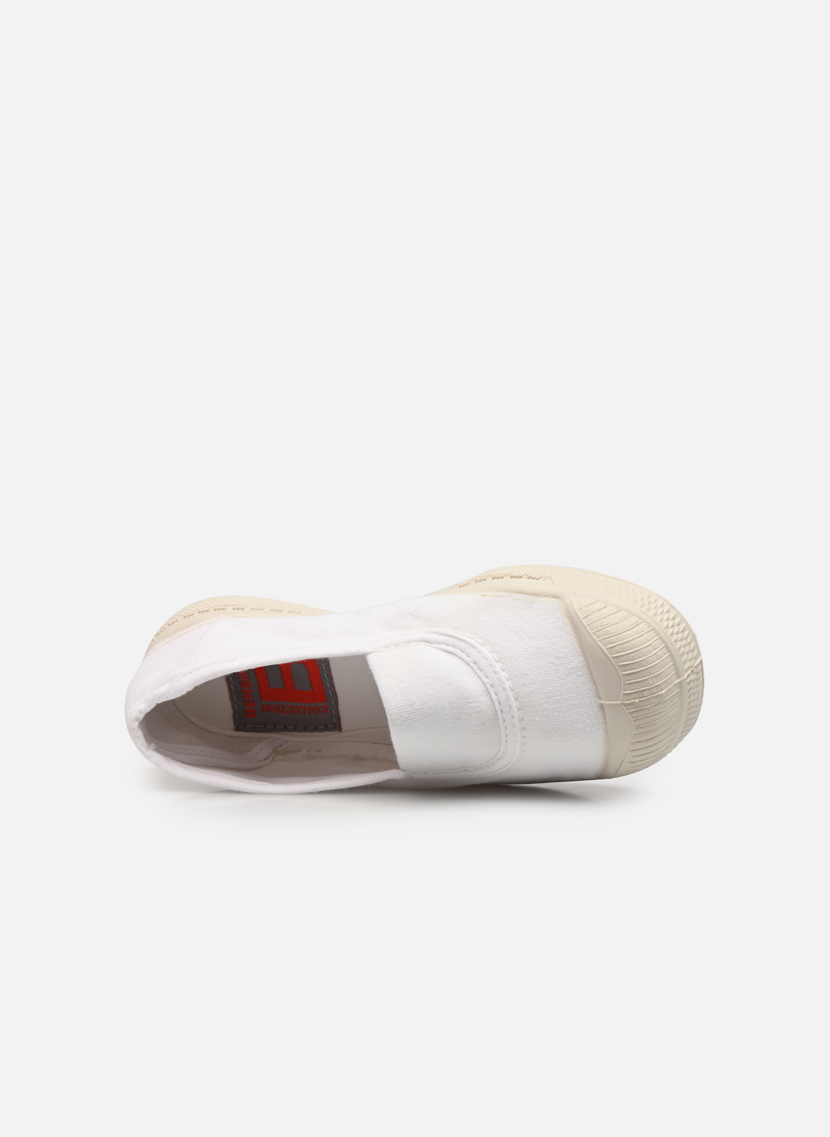 Trainers Bensimon Tennis Elastique E White view from the left
