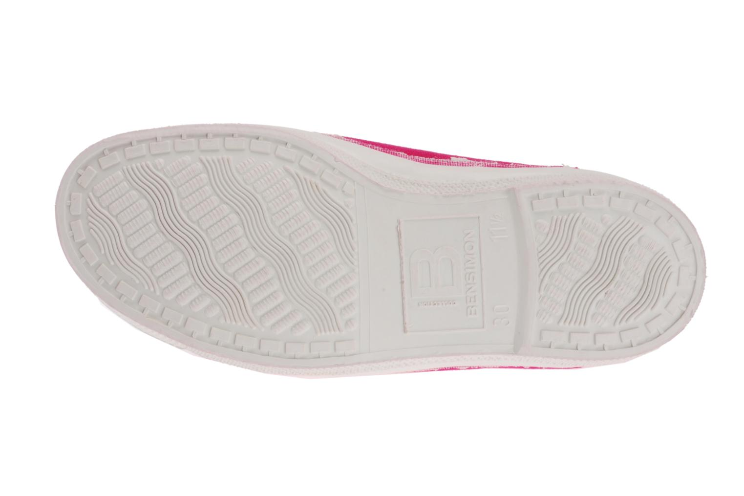 Trainers Bensimon Tennis Elastique E Pink view from above