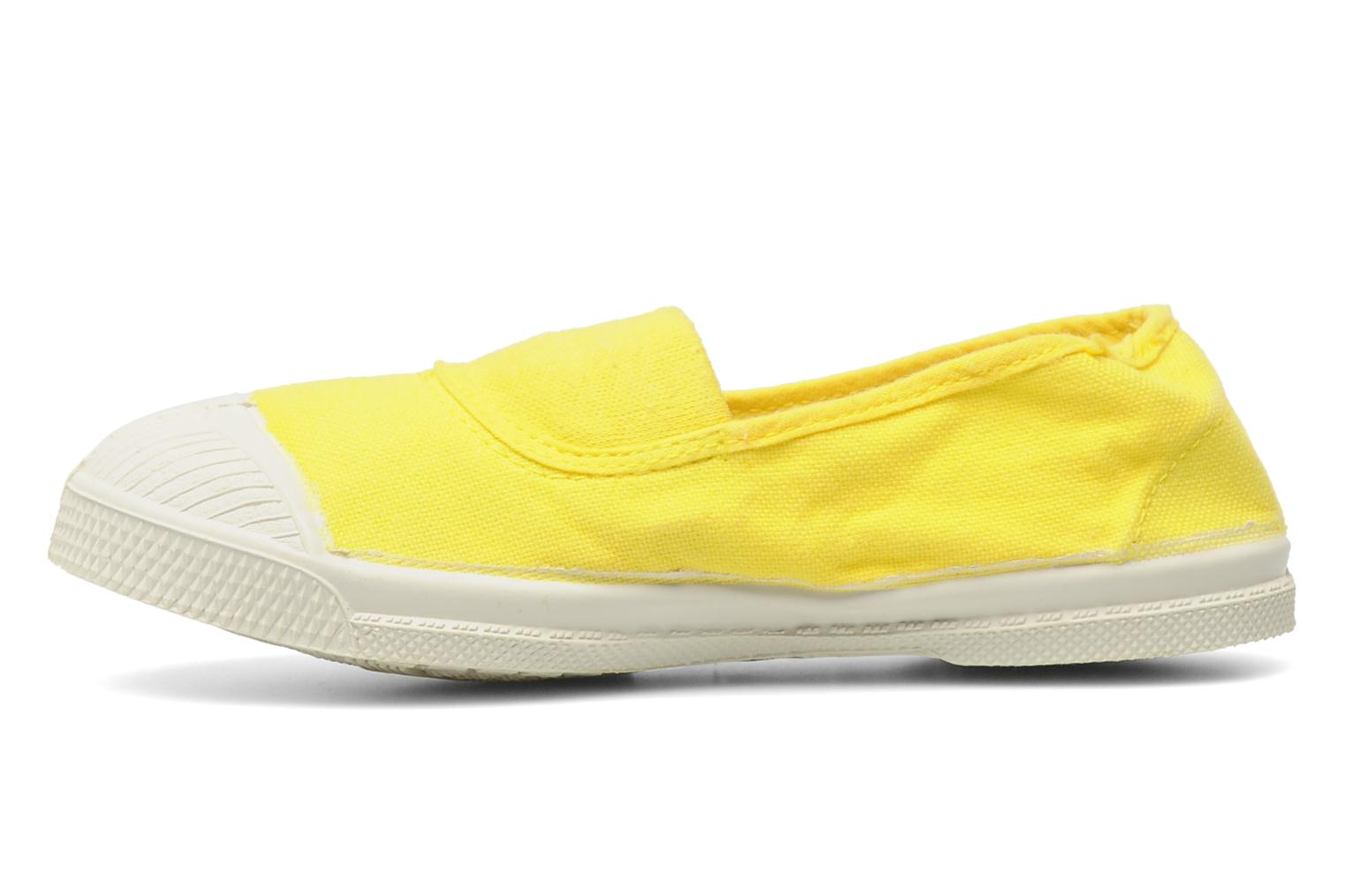 Baskets Bensimon Tennis Elastique E Jaune vue face