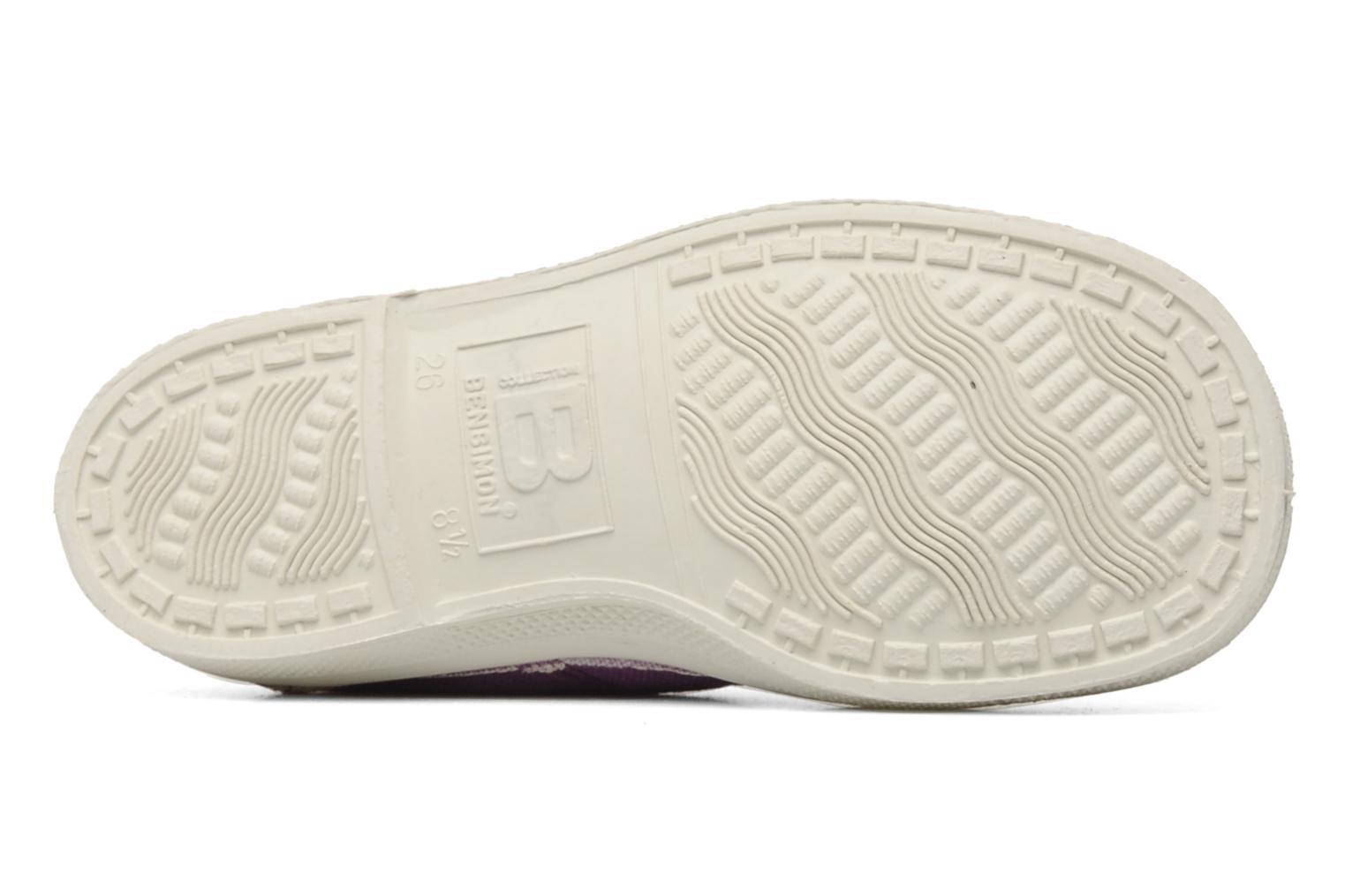 Baskets Bensimon Tennis Lacets E Violet vue haut