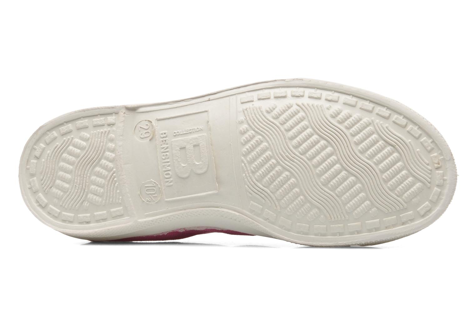 Baskets Bensimon Tennis Lacets E Rose vue haut