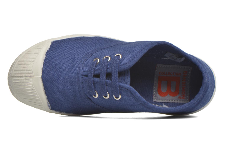 Baskets Bensimon Tennis Lacets E Bleu vue gauche