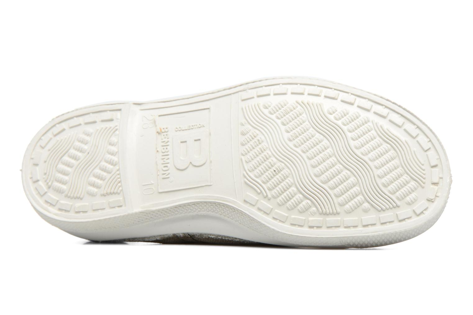 Trainers Bensimon Tennis Lacets E Green view from above