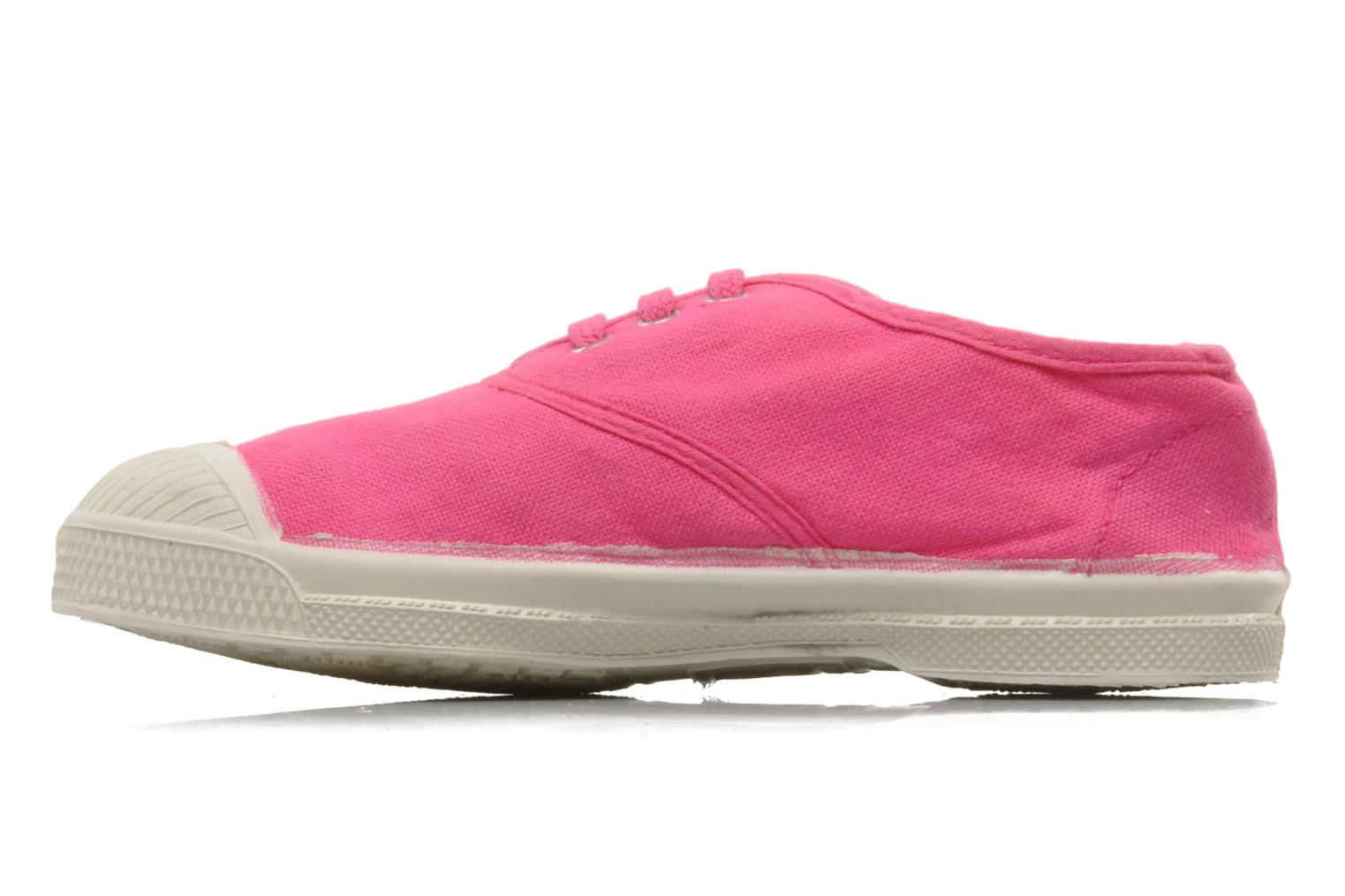Baskets Bensimon Tennis Lacets E Rose vue face
