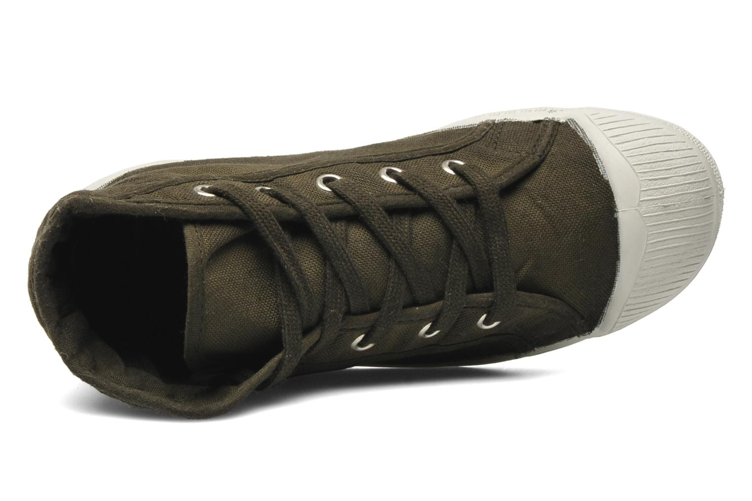 Trainers Bensimon Tennis Mid E Green view from the left