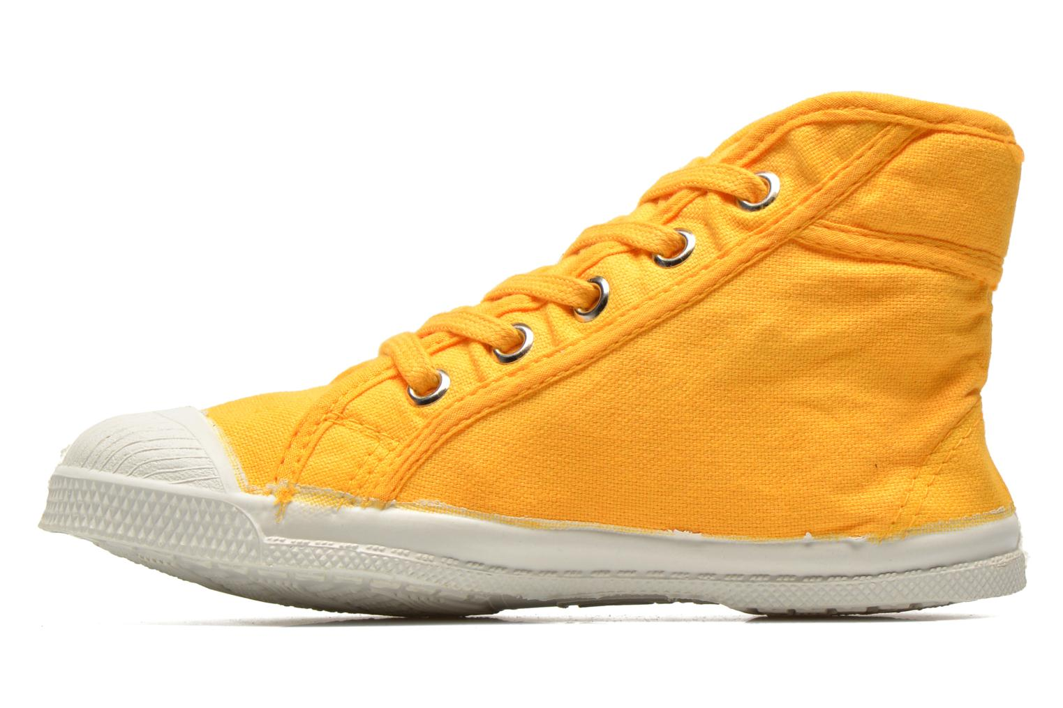 Baskets Bensimon Tennis Mid E Jaune vue face