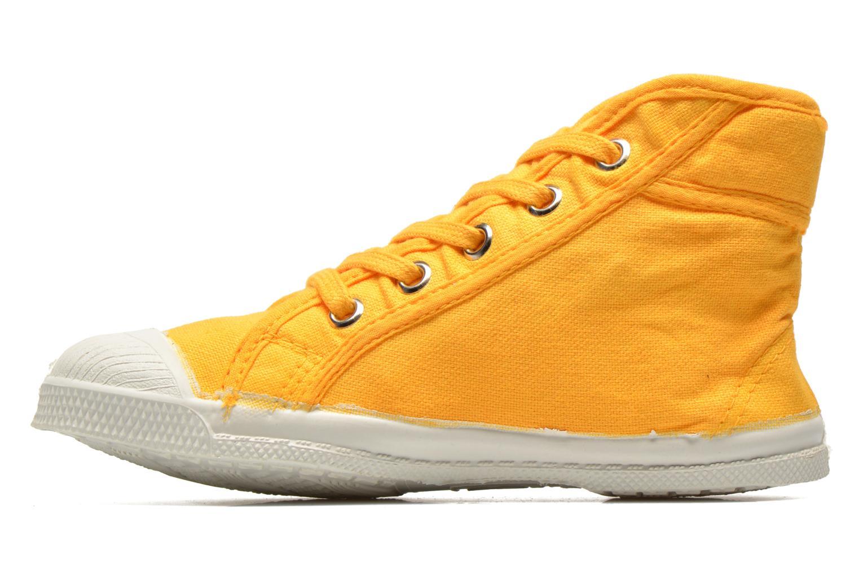 Baskets Bensimon Tennis Mid E Jaune vue face