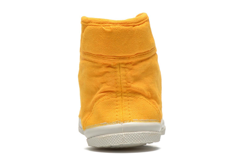 Sneaker Bensimon Tennis Mid E gelb ansicht von rechts