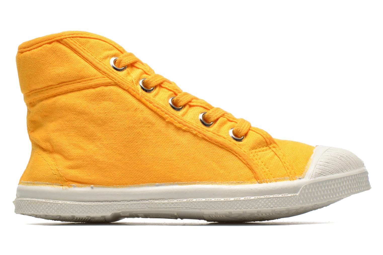 Sneaker Bensimon Tennis Mid E gelb ansicht von hinten