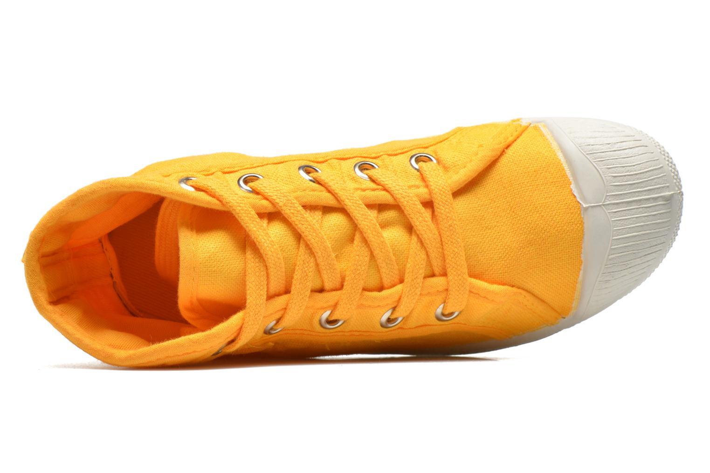 Sneaker Bensimon Tennis Mid E gelb ansicht von links