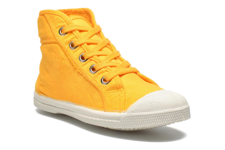 Sneaker Bensimon Tennis Mid E gelb detaillierte ansicht/modell