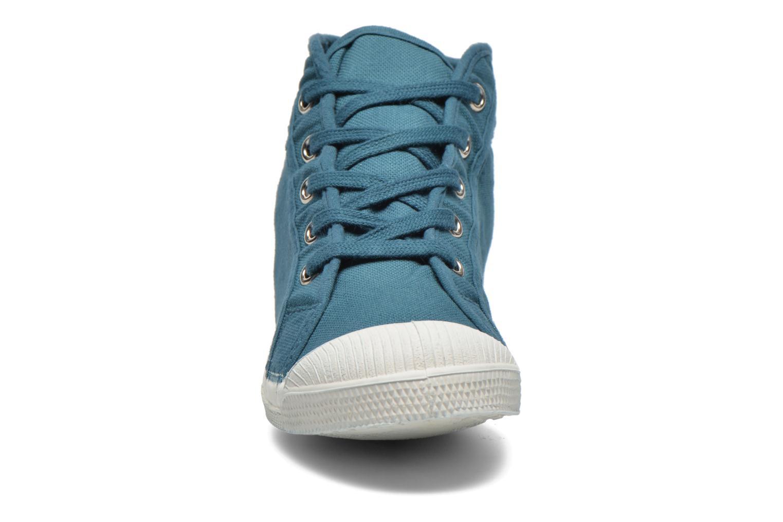 Baskets Bensimon Tennis Mid E Bleu vue portées chaussures