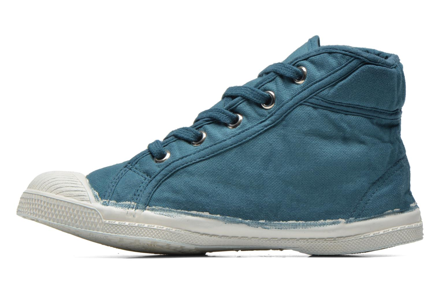 Baskets Bensimon Tennis Mid E Bleu vue face