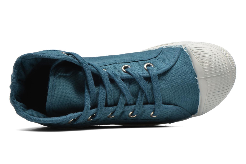 Baskets Bensimon Tennis Mid E Bleu vue gauche