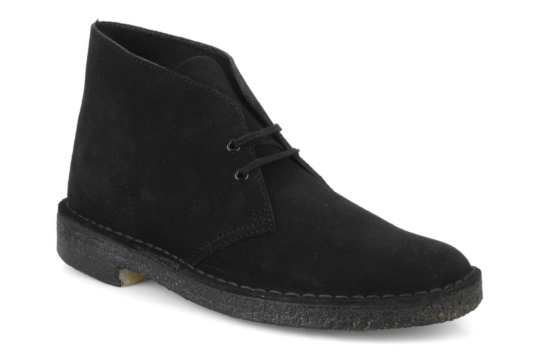 Chaussures à lacets Clarks Desert Boot M Noir vue détail/paire