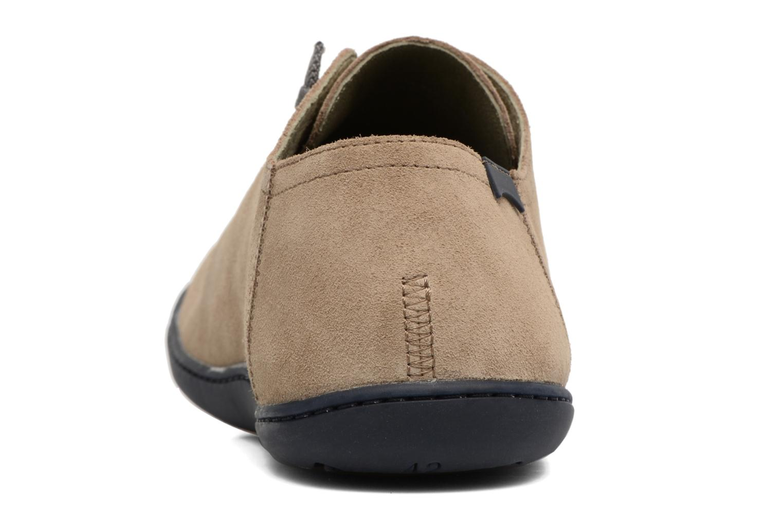 Chaussures à lacets Camper Peu Cami 17665 Beige vue droite