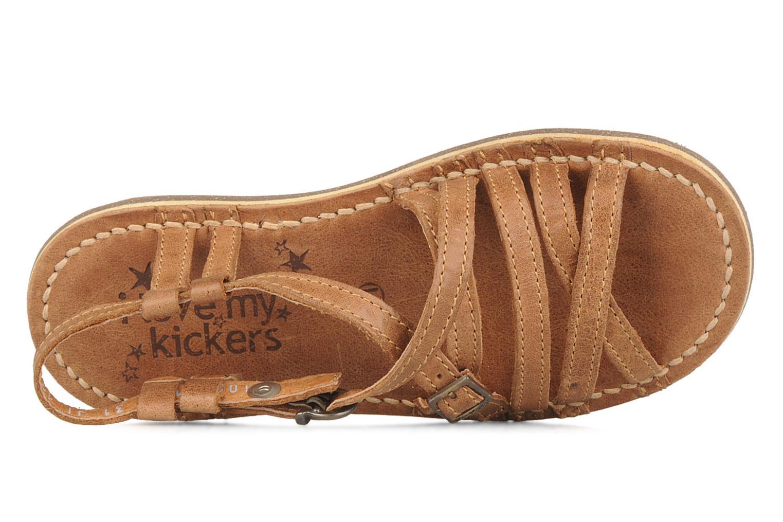 Sandales et nu-pieds Kickers Pinuts Marron vue gauche
