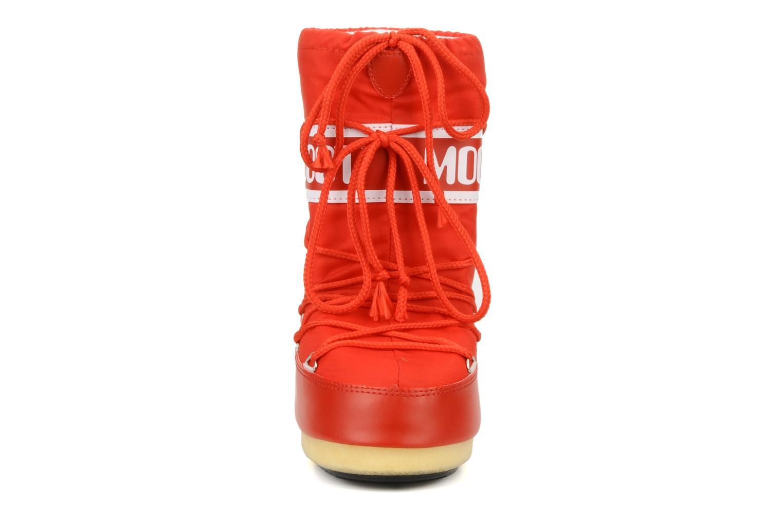 Scarpe sportive Moon Boot Moon Boot Nylon E Rosso modello indossato